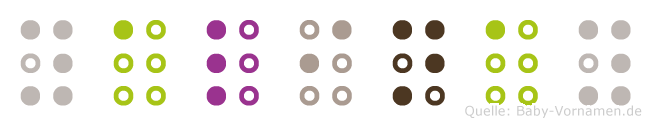 Yalinay in Blindenschrift (Brailleschrift)