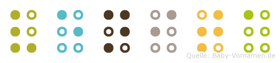 Venita in Blindenschrift (Brailleschrift)