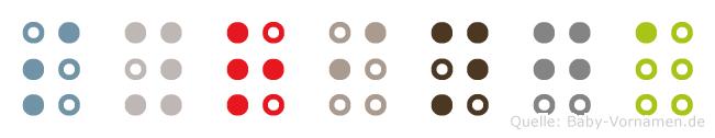 Syringa in Blindenschrift (Brailleschrift)