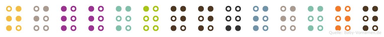 Tillmann-Simon in Blindenschrift (Brailleschrift)