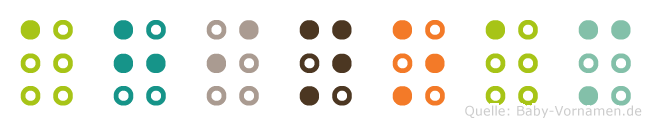 Ahinoam in Blindenschrift (Brailleschrift)