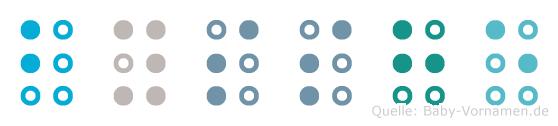 Bysshe in Blindenschrift (Brailleschrift)