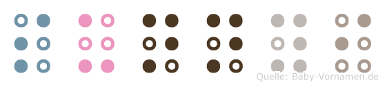 Sunnyi in Blindenschrift (Brailleschrift)