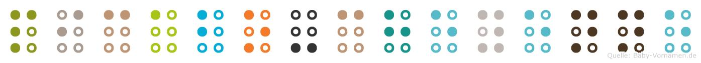 Picabo-Cheyenne in Blindenschrift (Brailleschrift)
