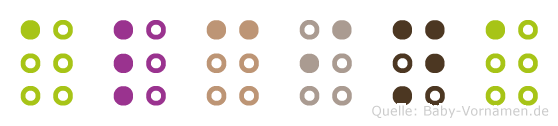 Alcina in Blindenschrift (Brailleschrift)