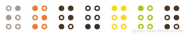 Ion-Dan in Blindenschrift (Brailleschrift)