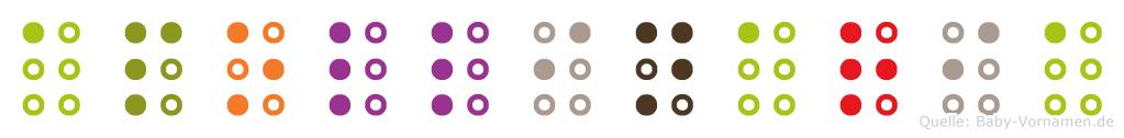 Apollinaria in Blindenschrift (Brailleschrift)