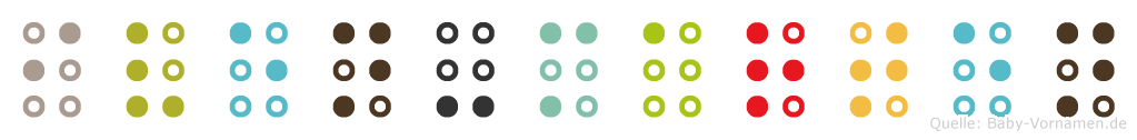Iven-Marten in Blindenschrift (Brailleschrift)