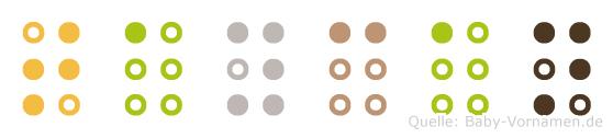 Taycan in Blindenschrift (Brailleschrift)