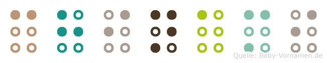 Chinami in Blindenschrift (Brailleschrift)