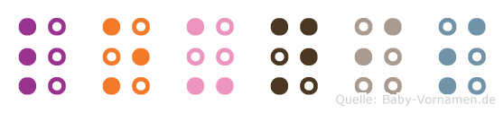 Lounis in Blindenschrift (Brailleschrift)