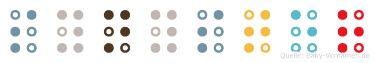 Synyster in Blindenschrift (Brailleschrift)