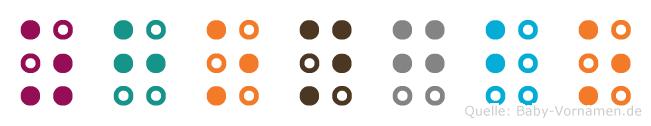 Zhongbo in Blindenschrift (Brailleschrift)