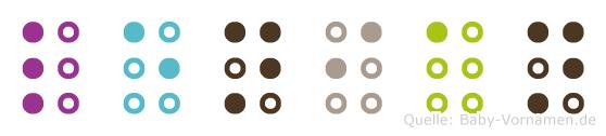 Lenian in Blindenschrift (Brailleschrift)
