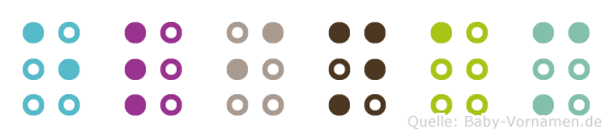 Elinam in Blindenschrift (Brailleschrift)