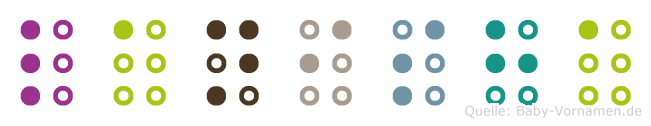 Lanisha in Blindenschrift (Brailleschrift)