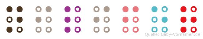 Nilifer in Blindenschrift (Brailleschrift)