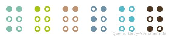 Macsen in Blindenschrift (Brailleschrift)