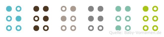 Enigma in Blindenschrift (Brailleschrift)