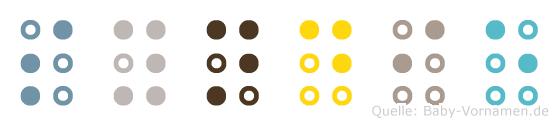 Syndie in Blindenschrift (Brailleschrift)