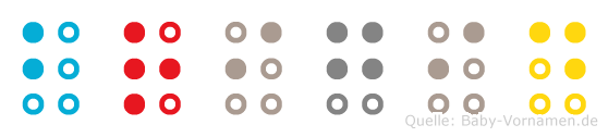 Brigid in Blindenschrift (Brailleschrift)