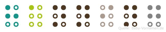 Hanning in Blindenschrift (Brailleschrift)