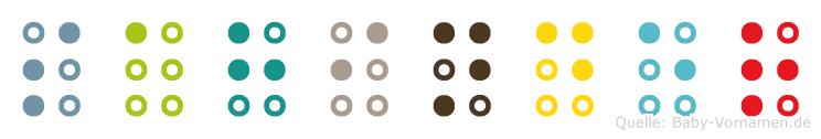 Sahinder in Blindenschrift (Brailleschrift)