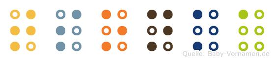 Tsonka in Blindenschrift (Brailleschrift)