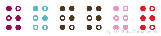Zennur in Blindenschrift (Brailleschrift)