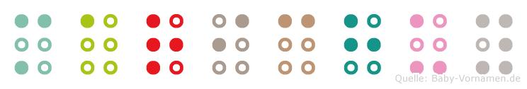 Marichuy in Blindenschrift (Brailleschrift)