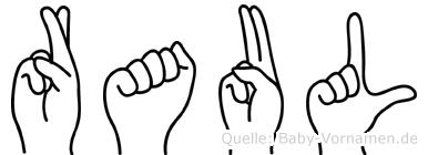 Raul in Fingersprache für Gehörlose