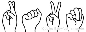 Ravn in Fingersprache für Gehörlose