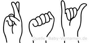 Ray in Fingersprache für Gehörlose