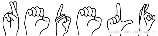 Redelf im Fingeralphabet der Deutschen Gebärdensprache