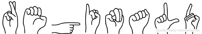 Reginald im Fingeralphabet der Deutschen Gebärdensprache