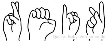 Reik in Fingersprache für Gehörlose