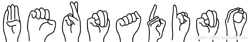Bernadino in Fingersprache für Gehörlose