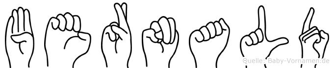 Bernald in Fingersprache für Gehörlose