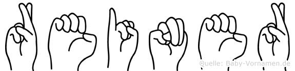 Reiner in Fingersprache für Gehörlose