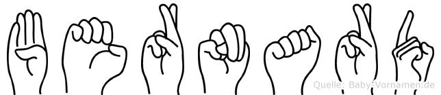 Bernard im Fingeralphabet der Deutschen Gebärdensprache