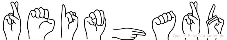 Reinhard im Fingeralphabet der Deutschen Gebärdensprache