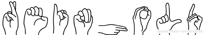 Reinhold in Fingersprache für Gehörlose