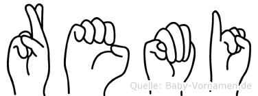 Remi in Fingersprache für Gehörlose