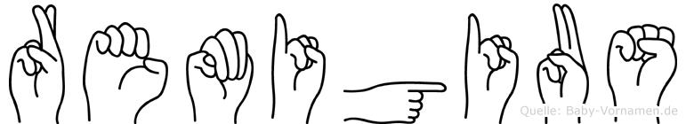 Remigius in Fingersprache für Gehörlose
