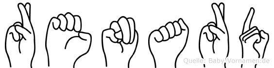 Renard im Fingeralphabet der Deutschen Gebärdensprache