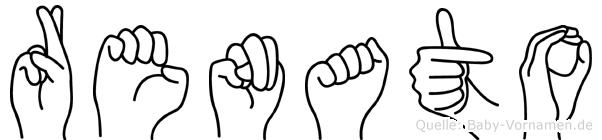 Renato im Fingeralphabet der Deutschen Gebärdensprache