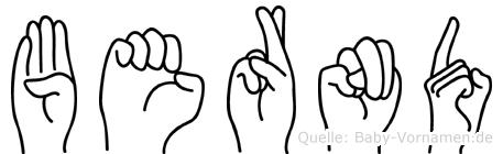 Bernd in Fingersprache für Gehörlose