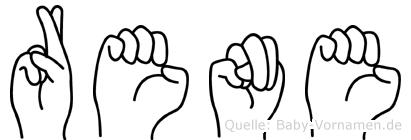 Rene in Fingersprache für Gehörlose