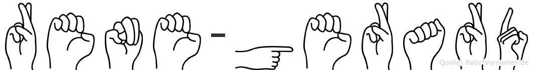 Rene-Gerard im Fingeralphabet der Deutschen Gebärdensprache