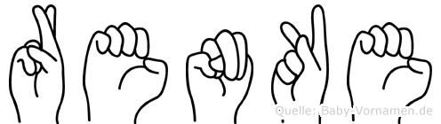 Renke im Fingeralphabet der Deutschen Gebärdensprache